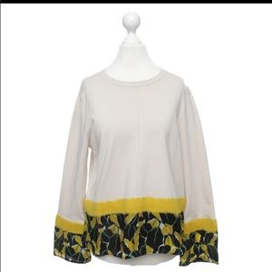 Luisa Cerano Sweater with Wool and Silk Trim